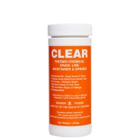 Clear Non-Acid Granular Drain Cleaner, 1.25 lb canister (12 canisters per case)