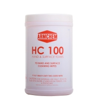 HC-100 Pre-Moistened Multi-Purpose Cleaning Towels, 70 Towelettes per Canister (Case of 6)